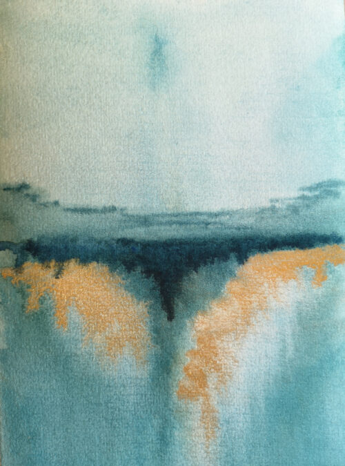 Ebb and Flow Part 1 Watercolour Caoimhe O'Dwyer